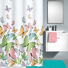 home24 Rideau de douche Butterflies