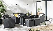 home24 Salon de jardin Manta (6 éléments)