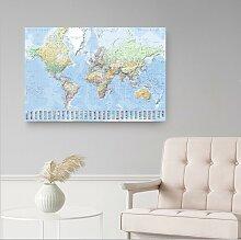 home24 Tableau déco Carte du monde II