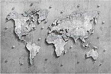 home24 Tableau magnétique Carte du monde béton