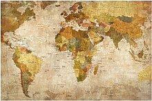 home24 Tableau magnétique Carte du monde