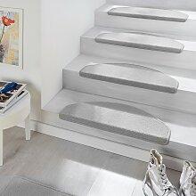 home24 Tapis d'escalier Fancy (lot de 15)