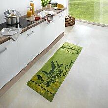 home24 Tapis de cuisine Olive