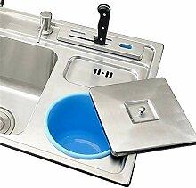 HomeLava récipient bleu en plastique (poubelle)