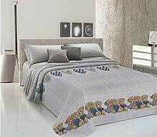 HomeLife - Couvre-lit 2 places printemps/été en