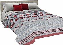 HomeLife Couvre-lit 2 places printemps été en