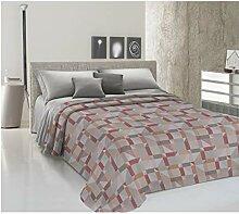 HomeLife Couvre-lit pour lit double en piqué [260