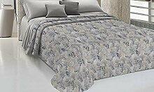 HomeLife Couvre-lit pour lit double en piqué