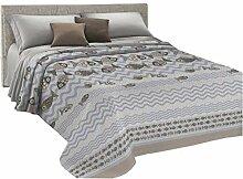HomeLife Couvre-lit pour lit simple en piqué [170