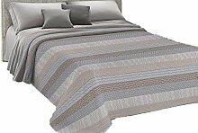HomeLife couvre-lit une place et demie en piqué