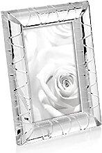 Homemania Cadre Crystal-Porte-Photo, Image-Blanc