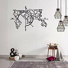Homemania Décoration Murale en Metal Carte du