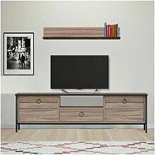 Homemania - Meuble TV Lace Moderne - avec portes,