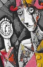 Homemania Tableau Horloge Multicolore 45 x 3 x 70