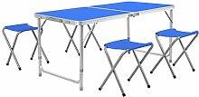 Homfa 120×60cm Table de Pique-Nique Table Pliante