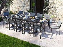 HOMIFAB Ensemble Table de Jardin Extensible 8 à