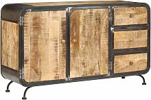 Hommoo Buffet 140 x 40 x 80 cm Bois de manguier
