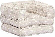 Hommoo Canapé-lit modulaire à 1 place Marron