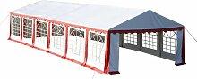 Hommoo Chapiteau 12 x 6 m Rouge HDV06757