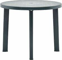 Hommoo Table de jardin Vert 89 cm Plastique
