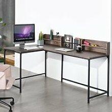 HOMY CASA Bureau d'Angle Industriel  style