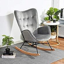 HOMYCASA Fauteuil à Bascule Chaise Relax Lounge