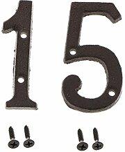 Homyl 2 Pcs Signe Numéro de Porte en Fer Maison