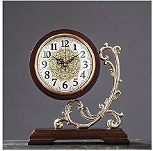hongbanlemp Cross Table Horloge de Bureau rétro