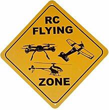 HONGXIN Xing R.C. Flying Zone Plaque en métal