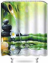 Hoomall Rideau de Douche, Style Zen, Salle de Bain