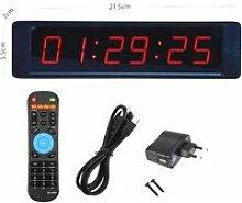 Horloge,8.2 pouces télécommande LED affichage