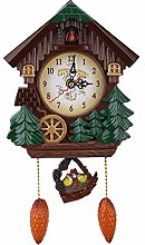 Horloge à coucou artisanat en bois maison arbre