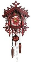 Horloge à coucou en bois avec pendule oscillant -