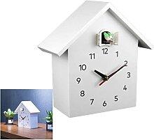 Horloge à Coucou Moderne Birdhouse Blanc, Horloge