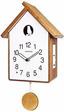 Horloge À Coucou Moderne en Bois, Horloge À