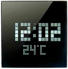 Horloge à LED façon pixels 24 cm