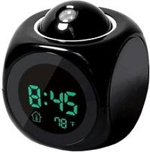 Horloge,Attention Projection numérique météo
