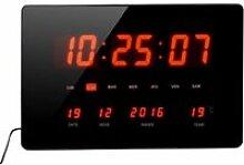 Horloge Calendrier à LED - Grands caractères -