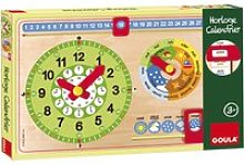 Horloge calendrier bois