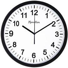 horloge classique sans verre noire