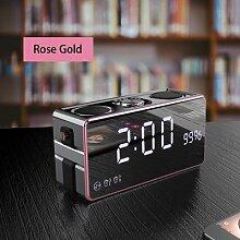 Horloge de bureau à affichage numérique HD,