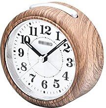 Horloge de bureau à grains de bois,réveil for