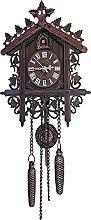 Horloge de coucou en bois mécanique Coucou