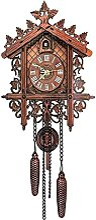 Horloge de coucou suspendu en bois vintage for