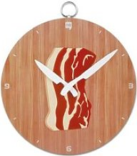Horloge de cuisine assiette de poitrine de porc