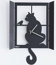 Horloge de fenêtre de chat 11008C71 Arts et