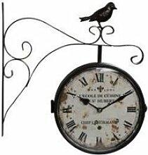 Horloge De Gare Ancienne Double Face L'Ecole