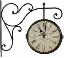 Horloge De Gare Ancienne Double Face La