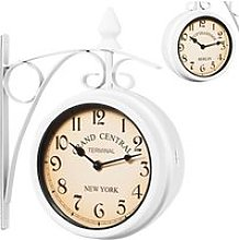 Horloge de gare blanche à double sens 29 x 9,5 x