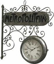 Horloge de Gare Double Face 59 cm x 57cm x 11.50